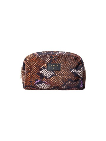 DANTE6 - 194908 - VEALY MAKE-UP BAG - CHOCOLATE