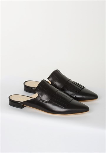 APAIR - 31114 - BLACK SLIP-IN MULES