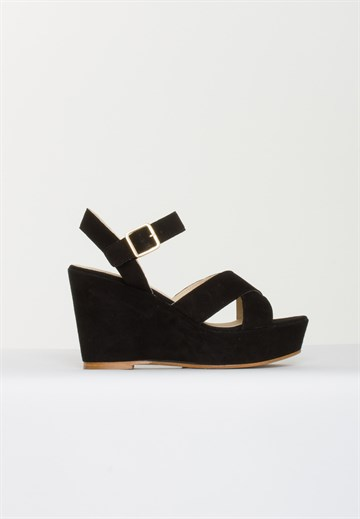 APAIR - 7325 - SANDAL - SUEDE BLACK