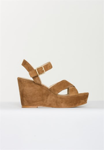APAIR - 7325 - SANDAL - SUEDE BROWN