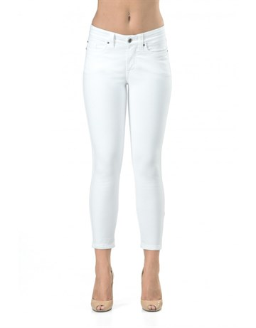 JONNY Q - 4316 - JACKY STRETCH SATIN - JEANS - WHITE
