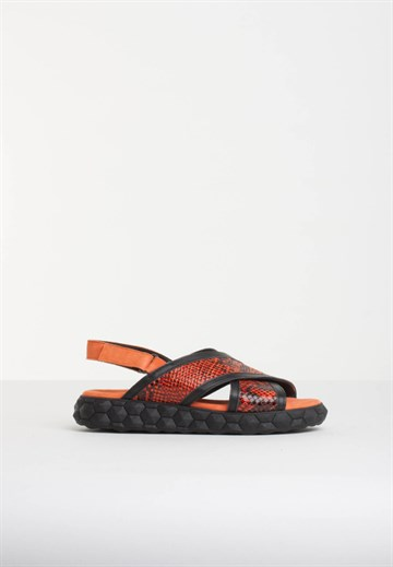 BLUE ON BLUE - FANTOM - SANDAL - ORANGE