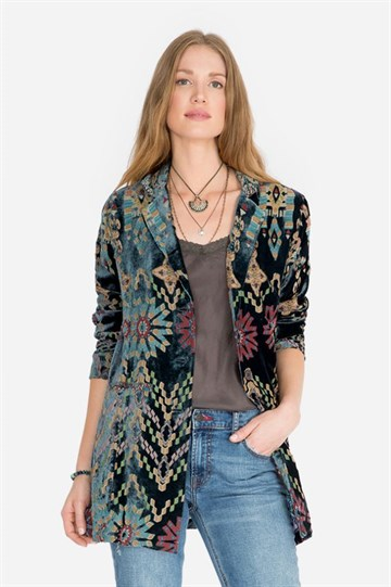 JOHNNY WAS - C41719-9 - ALIKA VELVET BLAZER - MULTI COLOUR