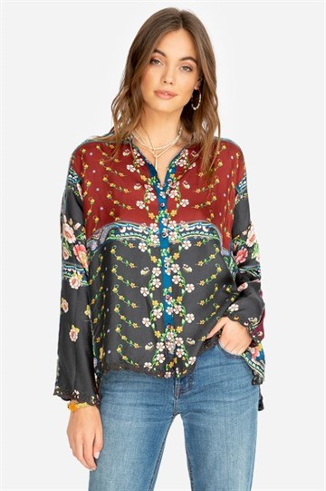 JOHNNY WAS - C15919A8 - NARA BOXY BLOUSE - MULTI COLOUR