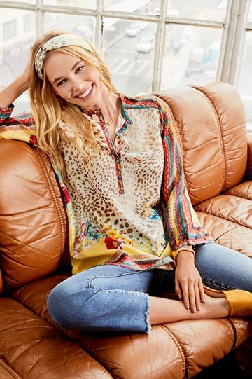 JOHNNY WAS - C25819-7 - FLOWER TUNIC - MULTI COLOUR