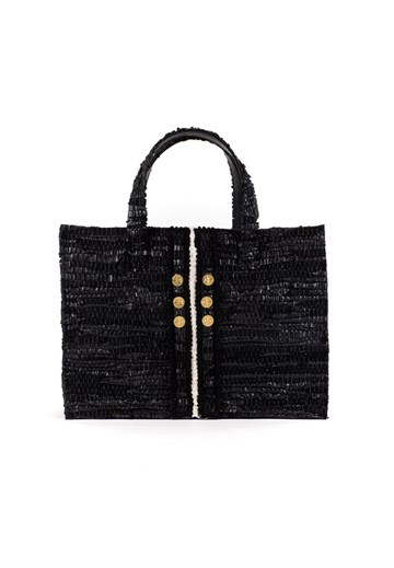 Kooreloo - Book Tote Leather - Black