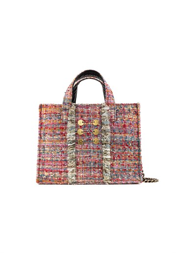 Kooreloo - Tweed Diana Book Tote - Watermelon