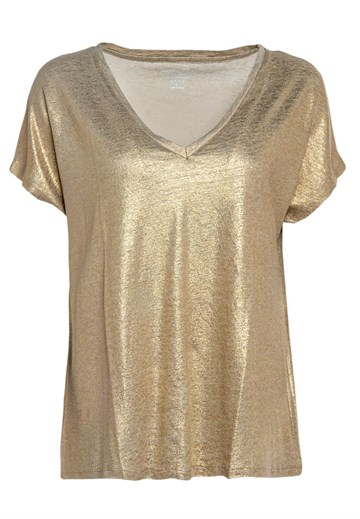 Majestic Filatures - V Nech T-Shirt - Gold
