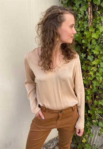 ME369 - 33306 - DOMINIC - BLOUSE - SAND