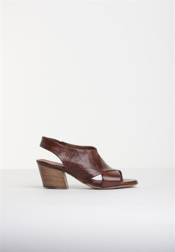 OPEN CLOSED SHOES - CHIARA04 - BROWN