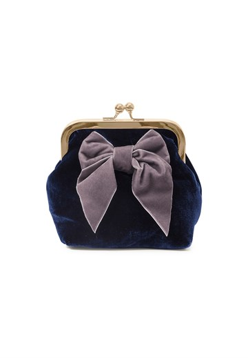 Sonja Love - Velvet Clutch - Navy